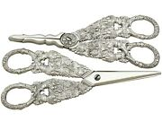 Antique George Iv Composite Sterling Silver Grape Shears