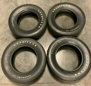 Vintage Goodyear Polyglas Gt F60-15 Tires W/raised White Lettering - Set Of 4