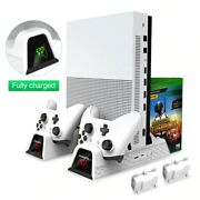 Xbox One Dual Controller Charger Station Cooling Vertical Stand Games Storage