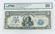1899 5 Silver Certificate Fr275 Napier/mcclung Pmg Vf30 S/n E75592003 Pp C