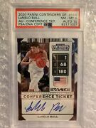 Lamelo Ball 2020 Panini Contenders Auto Conference Ticket 54a Psa 8 📈1/1 Pop