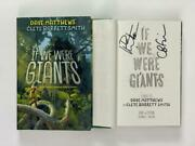 Dave Matthews Signed Autograph If We Were Giants Book - Band Crash, Very Rare