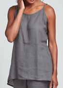 Flax Designs Linen Cami  S And M  Nwt Late Night Cami Pewter