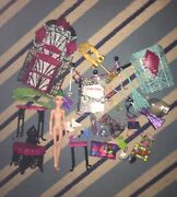 Monster High Doll Lot Used With Doll, Furniture , And Accessories