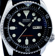 Vintage Seiko Skx007 Diver D-domed Sapphire Crystal Mod Genuine 7s26 Dial And Movt