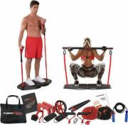 Fusion Motion Plus Portable Home Gym With 9 Accessories Including Heavy And Bar