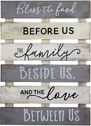 Vintage Rustic Farmhouse Wall Home Decor Sign For Kitchen, Living Room, Dining R