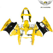 Ms Injection Fairing Kit Yellow Black Fit For Kawasaki 2000-2002 Zx6r Zx-6r Z042
