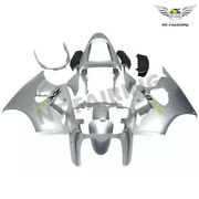 Ms Injection Fairing Kit Silver Fit For Kawasaki 2000-2002 Zx6r Zx-6r Abs Z029
