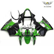 Ms Injection Fairing Green Black Fit For Kawasaki 2000-2002 Zx6r Zx-6r Abs Z026