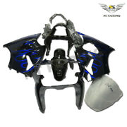Ms Injection Fairing Blue Flame Fit For Kawasaki 2000-2002 Zx6r Zx-6r Abs Z036