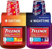 Tylenol Cold + Flu Severe Daytime And Nighttime Liquid Cough Medicine 2 Ct. Of