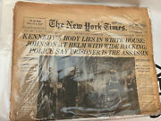 Kennedy Body Lies In White House New York Times 24 November 1963 Death Of Jfk
