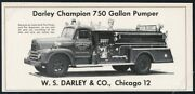 1957 South Dixie Fire Engine Valley Station Kentucky Photo Darley Print Ad