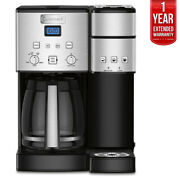 Cuisinart Ss-15 12-cup Coffee Maker And Single-serve Brewer W/extended Warranty