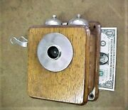Stromberg Carlson Antique Wall Telephone - Oak Case Need Mouthpiece And Receiver