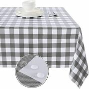 Waterproof Vinyl Table Cloth Rectangle Tablecloth For Outdoor Picnic Camping
