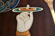 Perfect 36x24 Oil Painting Handpainted On Canvasbuddha's Hand No1788