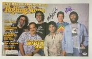 Mickey Hart And Phil Lesh Signed Autograph Rolling Stone Cover - Grateful Dead Psa