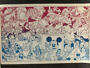 Wally Wood Disneyland Memorial Orgy Poster Psychedelic Black Light Red Ink