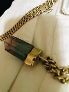 Tourmaline Crystal Pendant This Is A Large Very Rare Gem Clean Afghan Gem
