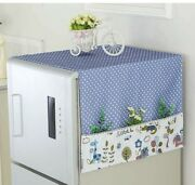 Washer And Dryer Top Covers Fridge Dust Cover Washing Machine Top Blue