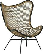 Tando Occasional Chair Natural Antique Wash Powder Coated Black White Meta