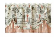 Better Homes And Gardens Farmhouse Country Rustic Farm Window Valance Cream Red