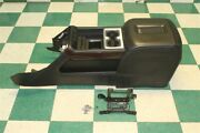 14-18 Gm Truck Black Leather Woodgrain Center Console Wireless Charger Armrest