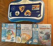Leapfrog Little Touch Leappad Lot Of Learning Game System 3 Games 3 Books Tested