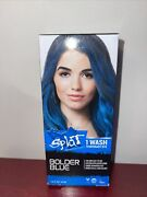 Splat Bolder Blue 1 Wash Temporary Hair Dye For 1 Day Fun And Easy To Use New