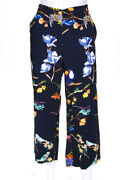 Tanya Taylor Womens Evelyn Pants Navy Blue Size 8