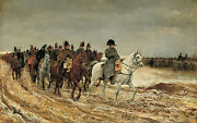 Oil Painting Napoleon And His Staff Are Returning After The Battle@13488