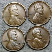 1910-s 1921 1922-d 1926-d Lincoln Cent Wheat Penny Coin Lot ---- S630