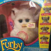 Furby Marshmallow White Blue Eyes Working Products