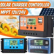Solar Charge Controller Dual Usb Lcd Auto Cell Panel Charger Regulator Mppt/pwm