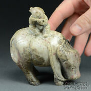 Chinese Nephrite Jade Carving, Boy On Water Buffalo, Ming Dynasty, 16/17th C.