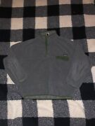 Synchilla Snap T Pullover Mens Size Large Gray Grey Green Fleece
