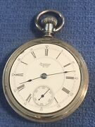 American Waltham Model 1883 Grade A.t.and Co. 18s 15j Pocket Watch Train Case Back