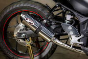 Polished Full Exhaust W/ Stainless Tubing M4 Ya3022 For 15-21 Yamaha R3 And Mt03