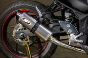 Titanium Full Exhaust W/ Stainless Tubing M4 Ya3026 For 15-21 Yamaha R3 And Mt03