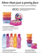 New Tupperware Lunch It Divided Containers, Eco Water Bottles And Bowls Set