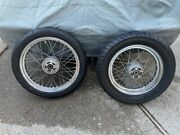 Harley Davidson Dyna 2000-2003 Used Stock Spoke Wheels With Tires