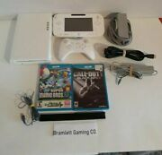 Nintendo Wii U 8gb White Console Deluxe Set With Mario And Cod - Excellent Cond