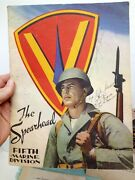 Vintage The Spearhead Fifth Marine Division Magazine 1942 1943 1944 War Lot Of 7