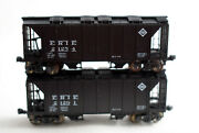 N Scale-kato Erie 70-ton Covered Hopper Lot Of 2 21291 21254