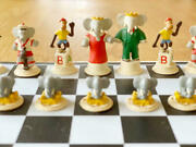 Babar Chess Set Collectorand039s Item Made In 1997 Limited Quantity Super Rare