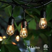 1/2/5/10pack 48ft Outdoor Commercial Grade Patio Globe String Lights Home Bulbs