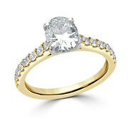 1.30 Ct Oval Cut Birthday Special Diamond Ring 14k Yellow Gold Rings 5 6 7 8 9