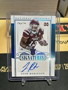 Josh Robinson 1/1 2015 National Treasures Signatures Rookie Rc Auto Colts Indy